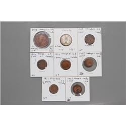 9 Canadian coins