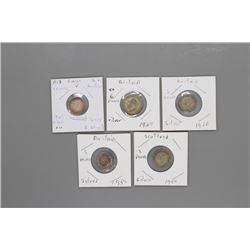 5 Silver Britain & Scotland coins