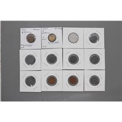 12 carded German WWII era coins