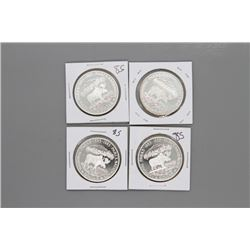4 - 1985 Canada Silver Dollars Prooflike