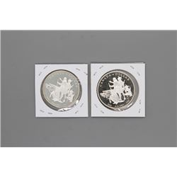 2 - 1990 Canada Silver Dollars Prooflike