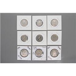 9 - Canadian coins & Greece Draks