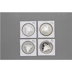 4 1982 Canada Silver Dollars Prooflike