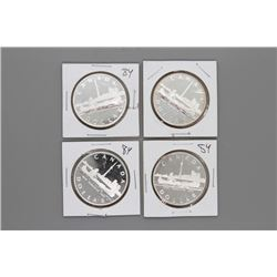 4 1984 Canada Silver Dollars Prooflike