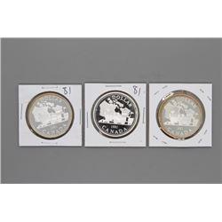 3 1981 Canada Silver Dollars Prooflike
