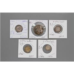 5 Silver Netherlands coins