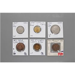 6 Assorted coins