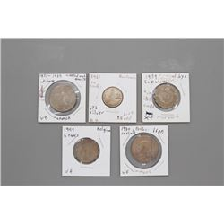 5 Assorted coins
