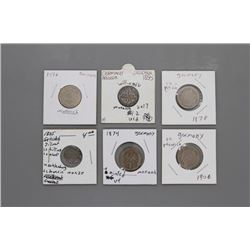 6 rare early & late 1800s German coins
