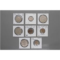 8 Assorted coins