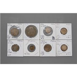 8 Mexican coins