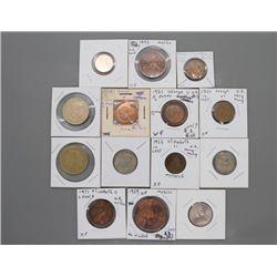 13 World coins
