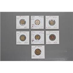 7 Phillipines WWII era silver coins