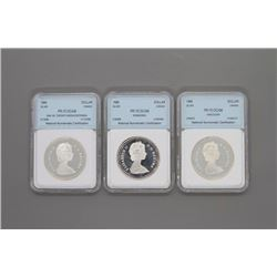 3 Canadian Silver Dollars