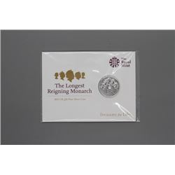 The Longest Reigning Monarch 20 pound coin