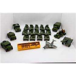 14 Armored Tanks, 2 Field Artillery Tractors, Cannon, 3-Ton Army Wagon, Army Box Truck, Cannon with