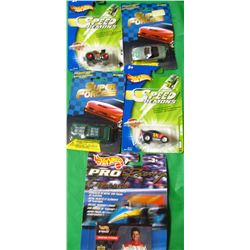 LOT OF 5 ASSORTED COLLECTOR CARS (HOTWHEELS, SUPER FORCE) *MELBOUR, NEW WAY, JEFF GORDON, HOT ROD* (