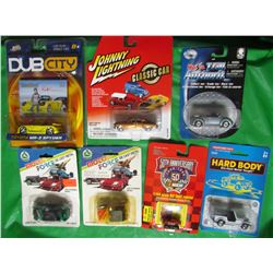 LOT OF 7 ASSORTED COLLECTOR CARS (MOTOFORCE, NASCAR, MAISTO, TOOTSIETOY, DUB CITY ) *7 DIFFERENT MOD
