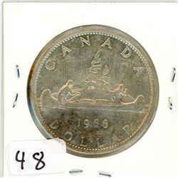 ONE DOLLAR COIN (CANADA) *1966* (SILVER)