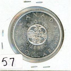ONE DOLLAR COIN (CANADA) *1964* (SILVER)