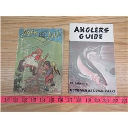 ANGLERS GUIDE AND RAYON BOOK OF NURSERY RHYMES