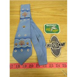 REMINGTON & CHEVROLET PATCHES AND TIE