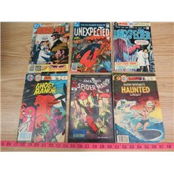 LOT OF ASSORTED COMICS (SPIDERMAN, JONAH HEX, HAUNTED, ETC…)