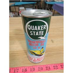 QUAKER STATE OIL TIN (STILL FULL)