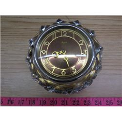 CLOCK (USSR) *MAJAK* (ROCT3309-75) *CRYSTAL  FRAME-MISSING BASE* (APPROXIMATLY 6 INCHES IN DIAMETER)