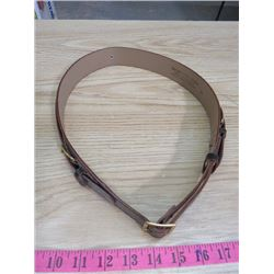 SCOUTS LEADER BELT (THE BOY SCOUTS LEADER TWO STRAP BELT) *FULL GRAIN COWHIDE-SIZE 36*