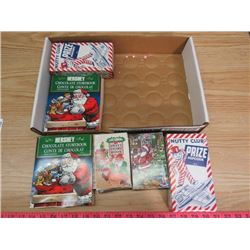 LOT OF CANDY BOXES (HERSHEYS, NUTTY CLUB, LIFESAVER)