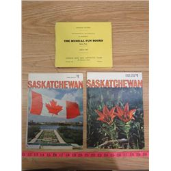 LOT OF SASKATCHEWAN MAGAZINES & SCHOOL RECORDS