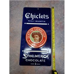 CHICLETS PORCELAIN SIGN (REPRO)