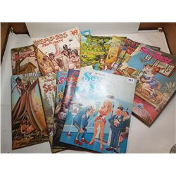 LOT OF 11 SEX TO SEXTY MAGAZINES (PLEASE NOTE: ADULT CONTENT) *VINTAGE*