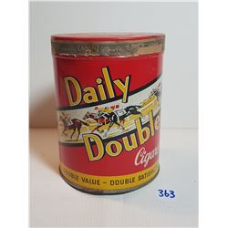 DAILY DOUBLE CIGAR TIN (GREAT CONDITION)