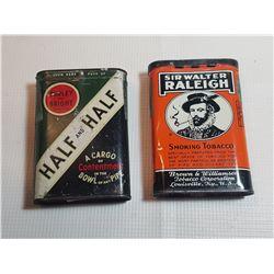 HALF HALF AND SIR WALTER POCKET TINS