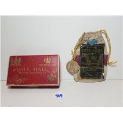 ANTIQUE PALL MALL AND DURHAM TOBACCO POUCHES