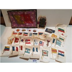 LARGE LOT OF TOBACCO SILKS AND TAGS (ALSO INCLUDES DURHAM POUCH)
