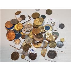 HUGE LOT OF TOKENS WITH SOME COINS