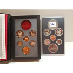 1981 AND 1989 PROOF SETS (FROSTED)