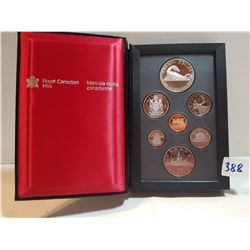 1986 PROOF SET (WITH SILVER DOLLAR)