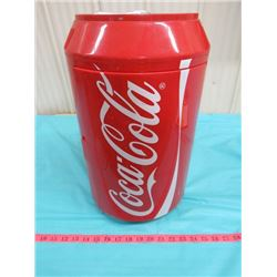 """COKE MINI FRIDGE (17.5"""" TALL) (HAS POWER PACK INCLUDED AND SWITCH LABELED HOT-COLD)"""