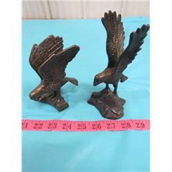 LOT OF 2 EAGLE STATUES