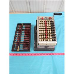 ABACUS AND ADDING MACHINE (CHECK PROTECTOR HEDMAN COMPANY)
