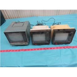 LOT OF 3 PORTABLE TELEVISIONS (2 MTC, 1 IMA)