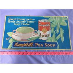 REPRODUCTION PEA SOUP SIGN