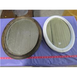 "TWO OVAL MIRRORS (23"" X 19"" AND 20"" X 14"")"