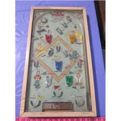 "BATTERY OPERATED PINBALL GAME (13"" X 23"")"
