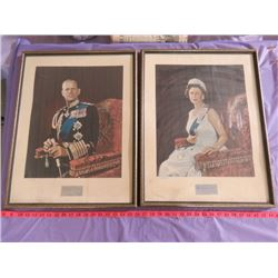 "QUEEN ELIZABETH AND PRINCE PHILIP PICTURES (23.5"" X 17.5"")"