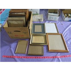 LOT OF ASSORTED FRAMES (VARIOUS SIZES)